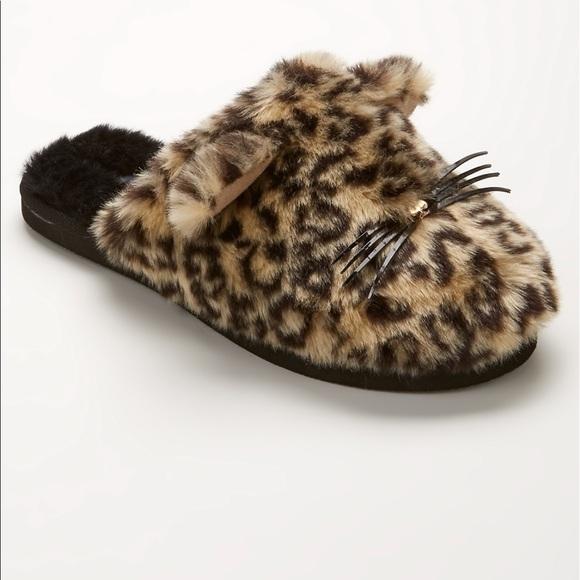 58de73568410 Kate Spade Belinda faux fur cat slippers -7